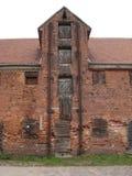 de 19de eeuwpakhuis in Klaipeda-haven Royalty-vrije Stock Foto's