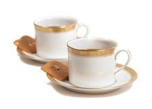 De de elegante koppen en koekjes van beenChina Royalty-vrije Stock Fotografie