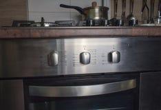 De de elektrische oven en haardplaat van Chrome Stock Afbeelding