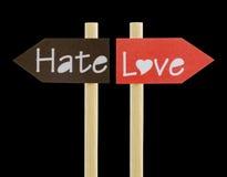 De de emotionele Liefde en Haat van het Dilemma Stock Foto's