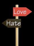De de emotionele Liefde en Haat van het Dilemma Royalty-vrije Stock Afbeelding