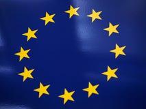 De de EU-vlag. Stock Foto's