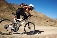 De de fietsconcurrentie van de berg royalty-vrije stock afbeeldingen