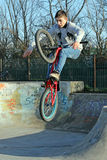 De de fietserjeugd van het vleetpark Royalty-vrije Stock Afbeeldingen