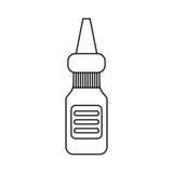 De de flessengeneeskunde van de oogdaling verdunt lijn stock illustratie