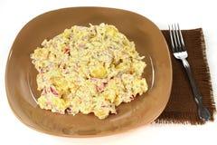 De de gastronomische salade en mayonaise van de Aardappelsui Royalty-vrije Stock Afbeelding