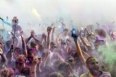 de 3de gebeurtenis van de Kleurendag in Thessaloniki Griekenland Royalty-vrije Stock Foto