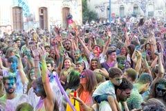 de 3de gebeurtenis van de Kleurendag in Thessaloniki Griekenland Royalty-vrije Stock Foto's