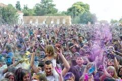 de 3de gebeurtenis van de Kleurendag in Thessaloniki Griekenland Stock Afbeelding