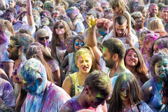 de 3de gebeurtenis van de Kleurendag in Thessaloniki Griekenland Stock Afbeeldingen