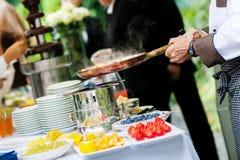De catering van het huwelijk stock fotografie