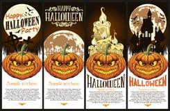 De de gelukkige vlieger of affiche van Halloween Royalty-vrije Stock Fotografie