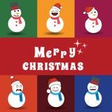 De de Geplaatste Pictogrammen, Elementen en de Illustraties van de Kerstmistypografie Stock Fotografie