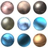 De de glanzende Knopen en Ballen van het Web Stock Foto's