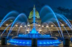 De de hoofdbouw en fontein van Pennsylvania Royalty-vrije Stock Afbeelding