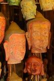 De de hoofdmaskers en gravures van Boedha Royalty-vrije Stock Foto