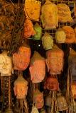 De de hoofdmaskers en gravures van Boedha Royalty-vrije Stock Foto's