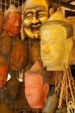 De de hoofdmaskers en gravures van Boedha Stock Afbeelding