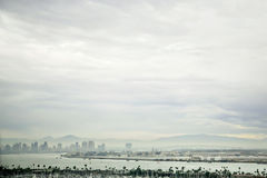 De de horizonbewolking van de binnenstad van San Diego Stock Foto's