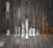 De de houten vloer en muur van Grunge Royalty-vrije Stock Afbeelding