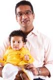 De de Indische Vader en Zoon van het oosten royalty-vrije stock fotografie