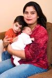 De de Indische Vrouw en familie van het oosten Royalty-vrije Stock Afbeelding