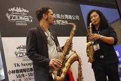 De de Instrumentententoonstelling van Shanghai van 2014 Internationale Muzikale Stock Fotografie