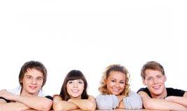De de jonge kerels en meisjes van het geluk Stock Afbeeldingen