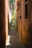 De de Kabelstraat van de Koordstraat is de smalste straat in c Stock Foto