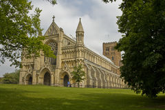 De de kathedraal & Kerk van de Abdij van Heilige Alban stock foto