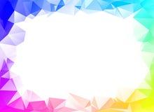 De de kleurrijke achtergrond of vector van de regenboogveelhoek Royalty-vrije Stock Fotografie