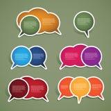 De de kleurrijke Etiketten en Markeringen van de Toespraak stock illustratie