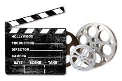 De de lege Bussen en Klep van de Film Hollywood op Whit royalty-vrije stock afbeelding