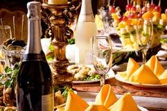 De de lijst vastgestelde dienst van de catering Stock Afbeelding