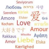 De de markeringswolk of toespraak borrelt: Liefde. Royalty-vrije Illustratie