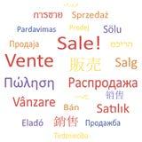De de markeringswolk of toespraak borrelt: Verkoop. Stock Illustratie