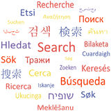 De de markeringswolk of toespraak borrelt: Zoek. Stock Illustratie