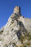 De de Meisjetoren en muur van het oosten van Devin-kasteel Stock Afbeelding