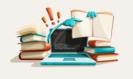 De de moderne hulp en antwoorden van het computertechnologieonderwijs Stock Foto's