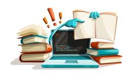 De de moderne hulp en antwoorden van het computertechnologieonderwijs Royalty-vrije Stock Foto's