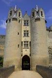 De de muren montreuil-bellay Loire van het kasteel vallei Frankrijk Stock Afbeelding