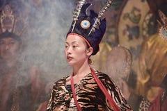 De de muziekcultuur van de Naximinderheid toont, Lijiang, China royalty-vrije stock foto