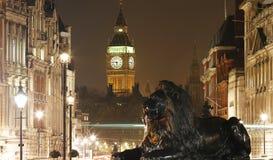 De de Nachtmening van Londen, omvat Big Ben Royalty-vrije Stock Fotografie