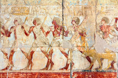 De de oude beelden en hiërogliefen van Egypte stock fotografie