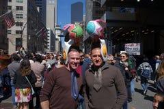 De 2014 de Paradetweelingen van NYC Pasen Stock Foto's