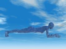 De de plankyoga van de dolfijn stelt Stock Fotografie
