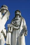 de 2de Posten van het Kruis, Jesus wordt gegeven zijn kruis Stock Fotografie