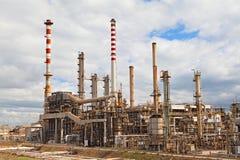 De de raffinaderij petrochemische industrie van de olie stock afbeelding