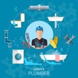 De de reparatiedienst van het loodgieterloodgieterswerk Stock Foto's