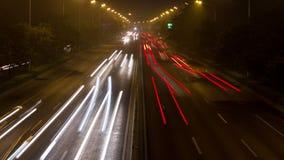 2de de schilweg van Peking bij nacht 4K stock video